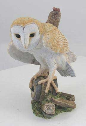 Country Artists Birds of Prey Barn Owl on Cartwheel