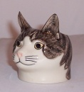 Quail  Grey Tabby and White Faced Eggcup Edith