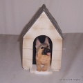 German Shepherd in Kennel Moneybox A21737