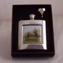 Game Shooting design Square Hip Flask