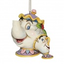 Mrs Potts and Chip Hanging Ornament A21431