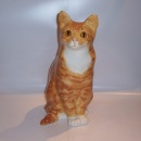 Winstanley Cat Ginger & White Sitting Size 7