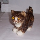 Winstanley Cat Tabby and White Standing Size 1