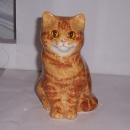 Winstanley Cat Ginger and White Sitting Size 1