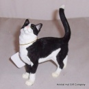 Border Fine Arts Cat Standing Black and White