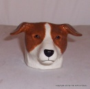 Quail Tan and White Jack Russell Faced Egg Cup