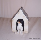 Jack Russell Tricolour in Kennel Moneybox