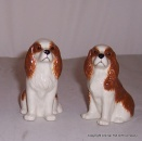 Quail Blenheim King Charles Spaniel Figures pair