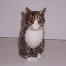 Quail  Grey Tabby and White Cat Millie 6""