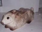Winstanley White Hare Laying Down Size 4