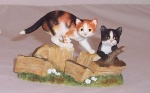 Border Fine Arts Olly and Ginny Cats