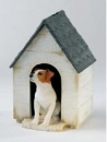 Jack Russell Tan & White in Kennel Moneybox